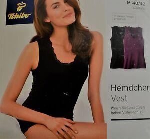 b19780dacec7fd TCM Tchibo Damen Hemdchen Vest Schwarz M 40 - 42 Viskose NEU&OVP | eBay
