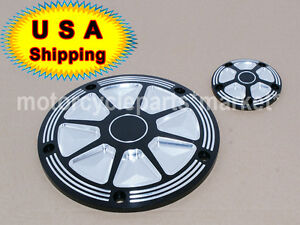 USA harley Edge Cut derby timer cover softail dyna touring electra Street glide