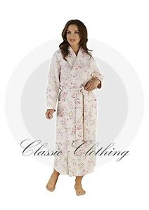 Image is loading Slenderella-Pink-Mint-Floral-Print-Dressing-Gown-Housecoat c32788417