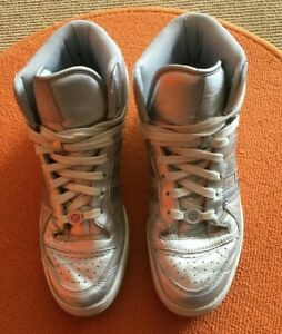Adidas-Forum-25th-Anniversary-Silver-High-Top-Sneakers-Size-11-5-Great-Cond