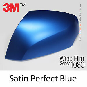 50x75cm film satin perfect blue 3m 1080 s347 vinyl covering series wrap film ebay. Black Bedroom Furniture Sets. Home Design Ideas