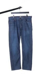 Men's 7 FOR ALL MANKIND bleu marine Coton Denim sexy Jeans taille 32