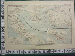 Historical Mapa Batalla Plan + Texto Guerra Contra Mithridates 92 & 88-83 BC