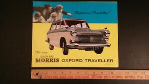 1962-MORRIS-Oxford-Color-Folder-Brochure-Excellent-Condition-UK