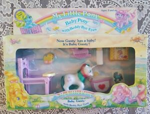 VINTAGE NIB My Little Pony Baby Gusty Unicorn MLP Beddy Bye Eyes Girl Toy 1985
