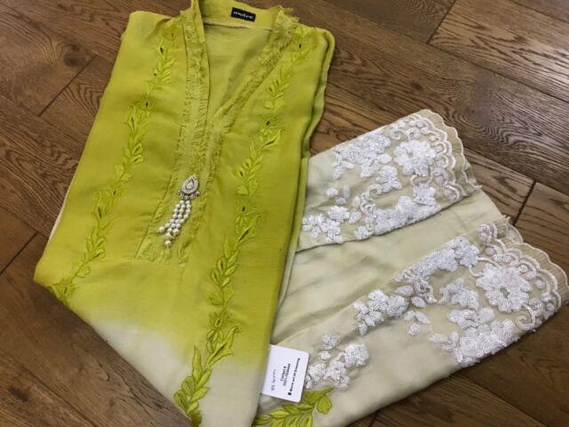 Moire Fashion Pakistan Lounge FPL ombre 3 PC Kurta Kurti Costume Agha Noor collection