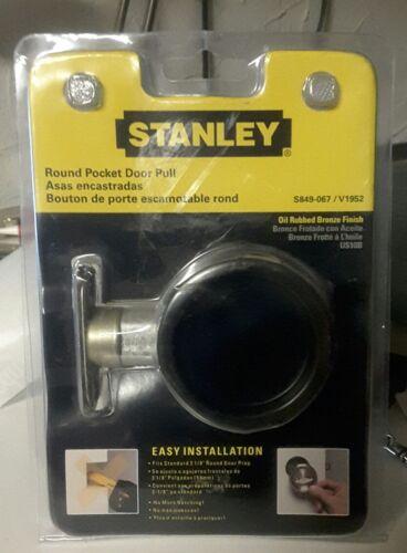 Oil-Rubbed Bronze Stanley 849067 Round Pocket Door Pull