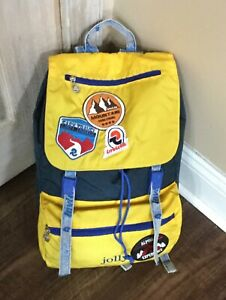 enjoy discount price special for shoe unequal in performance Details about Invicta Backpack Unisex Patched Jolly yellow navy NEW