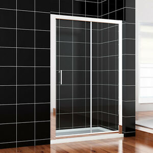 1000/1100/1200/1400...Sliding Shower Door Enclosure and Tray &Waste Glass Screen