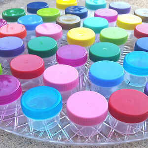 24-Jars-Bright-pretty-Color-Lids-5oz-Herbal-Herb-Container-Pot-Sample-USA-3803