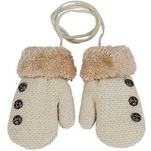 418e6b7dd Kids Winter Acrylic Gloves Warm Full Finger Rope Mittens For ...