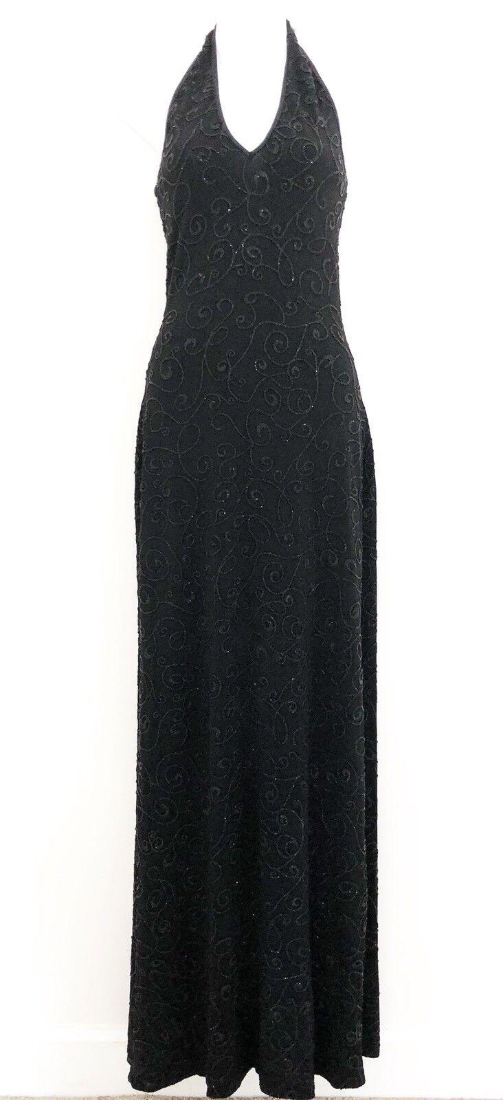 Alexia Admor for CACHE damen Evening Gown Dress Sz XS schwarz Sleeveless Stretch