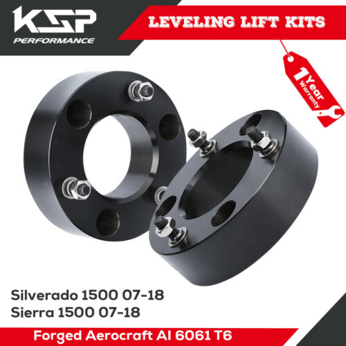 """2.5/"""" Front Leveling Lift Kit For 2007-2019 Chevy Silverado GMC Sierra GM 1500"""