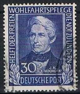 Duitsland-Bund-gestempeld-1949-used-120-Helfer-der-Menschheit-1