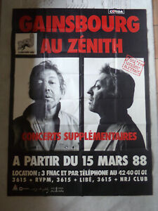 grande-affiche-SERGE-GAINSBOURG-au-ZENITH-concerts-supplementaires-1988-rare