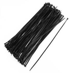 100pcs Network Nylon Plastic Cable Wire Organiser Zip Cord Strap Cable Ties