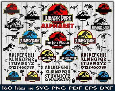 Jurassic Park World Bundle Svg Dxf Eps Png Pdf Cricut Alphabet Ebay