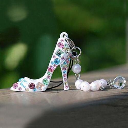 Women Rhinestone Delicate Charming Crystal Key Chain High Heel Shoe Key Ring