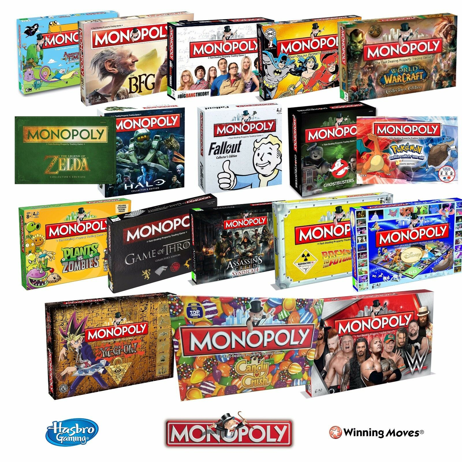Monopoly Board Game Special Editions - 2019 Full Range by Winning Moves Hasbro