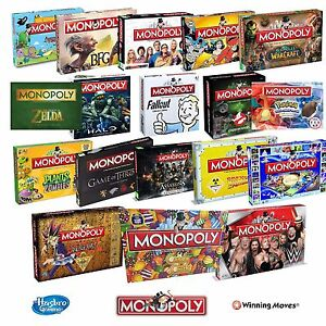 Monopoly Board Game Special Editions 2018 Full Range By Winning