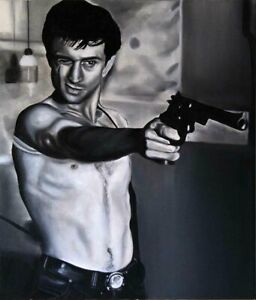 ORIGINAL-OIL-ON-CANVAS-PORTRAIT-OF-ROBERT-DE-NIRO-IN-TAXI-DRIVER-PAINTING