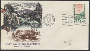 1961 #391 Northern Development FDC, Overseas Mailers Cachet, Ottawa