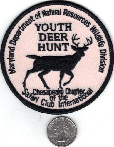 MARYLAND DNR YOUTH DEER HUNT SAFARI CLUB PATCH-MICHIGAN DEER-BEAR-TURKEY-PATCHES