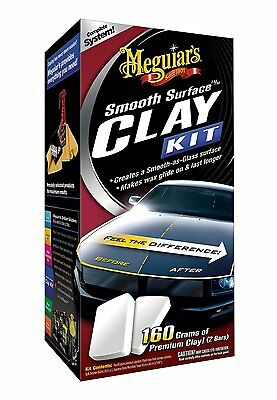 Meguiars SMOOTH SURFACE CLAY KIT 2 Clay Bars, Quick Detailer HIGH QUALITY NEW
