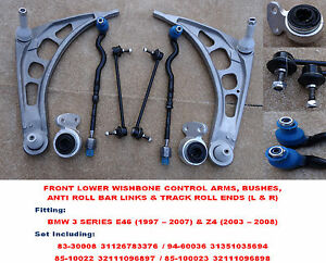 BMW-3-Series-E46-COUPE-98-08-Front-Lower-Wishbone-Control-Arms-Full-Kit