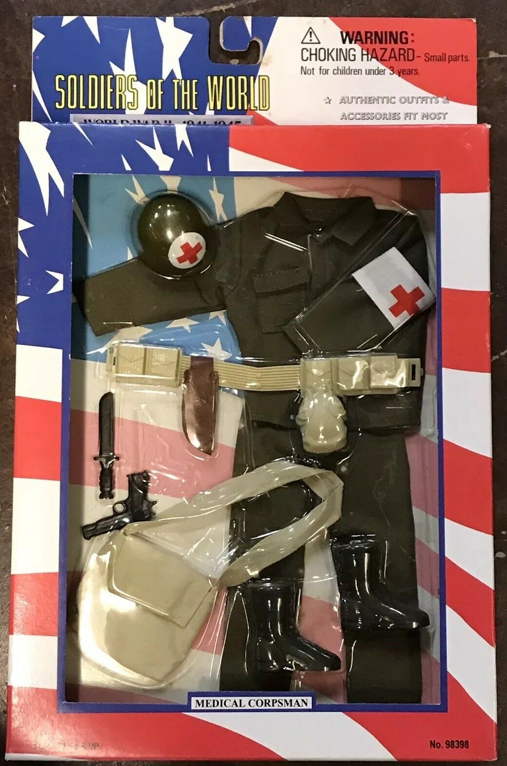 """Soldiers Of The World Medical Corpsman WWII 12"""" GI Joe 1996 21st Century Toys"""