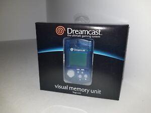 NEW-OFFICIAL-ORIGINAL-SEGA-DREAMCAST-CLEAR-BLUE-VISUAL-MEMORY-CARD-VMU-GENUINE