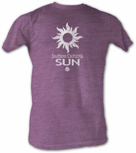 Southern-California-Sun-WFL-Purple-Logo-Men-039-s-Lightweight-Tee-Shirt-Sizes-S-2XL