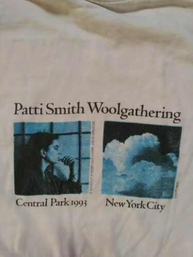 PATTI SMITH Central Park 1993 Woolgathering RARE T