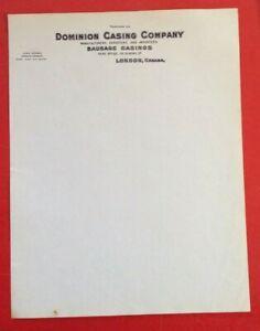 Vintage-Letterhead-Dominion-Casing-Company-Manufacturers-Sausage-Casings-London