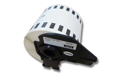 ENDLOS DRUCKER ETIKETTEN 62mm x 30.48m WASSERFEST für BROTHER P-touch QL-550