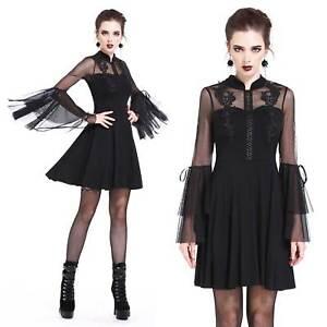 Das Bild wird geladen DARK-IN-LOVE-Gothic-Kleid-Mandarin-Rose-Dress- 25e7be24f1