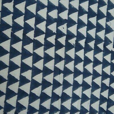By Yard Indian Hand Tie Dye Shibori Pure Cotton Fabric Sanganeri Running Fabric