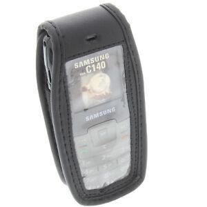 Etui-Telephone-pour-Samsung-C140-avec-Fenetre-et-Clip-Ceinture-Protection-Noir