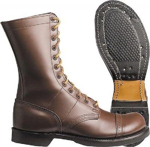 US ARMY CORCORAN Boots Stiefel WWII Airborne Lederstiefel braun brown 9.5EE