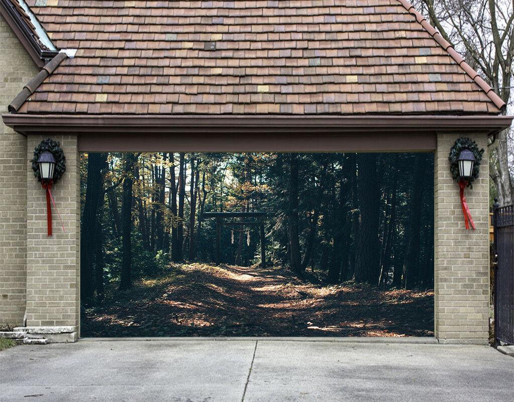 3D Nature Woods 4 Garage Door Murals Wall Print Decal Wall AJ WALLPAPER AU Lemon