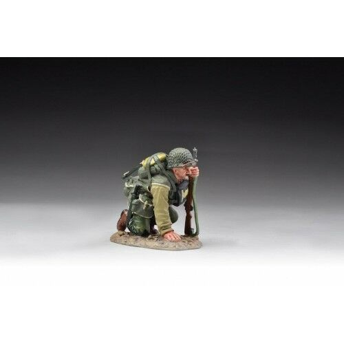 Thomas Gunn USA004B WW2 US Army Ranger Kneeling Wet Look (RETIRED) NRFB, MIB