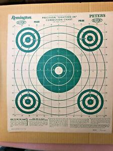 FT3-Vintage-Remington-1952-Peters-Dupont-Rifle-Target-Hunting-shack-cabin-decor