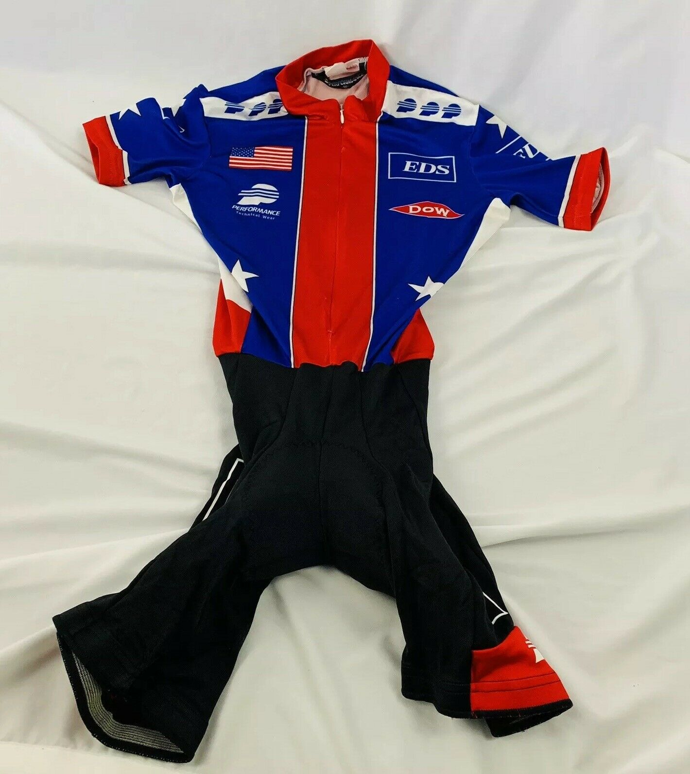 USA Cycling Official National Team Cycling Skinsuit Short Sleeve Size  XS  lightning delivery
