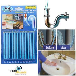 Pleasing Details About Sani Sticks Drain Pipe Block Cleaner Odor Remover Kitchen Bath Tub Sink 12 Pack Download Free Architecture Designs Embacsunscenecom