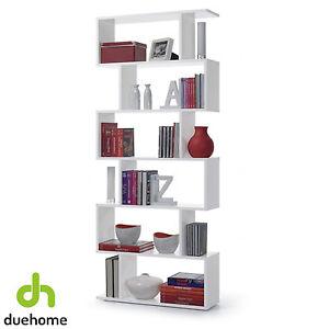 la imagen se est cargando estanteria alta abierta 6 estantes estanteria moderna blanco - Estanteria Moderna