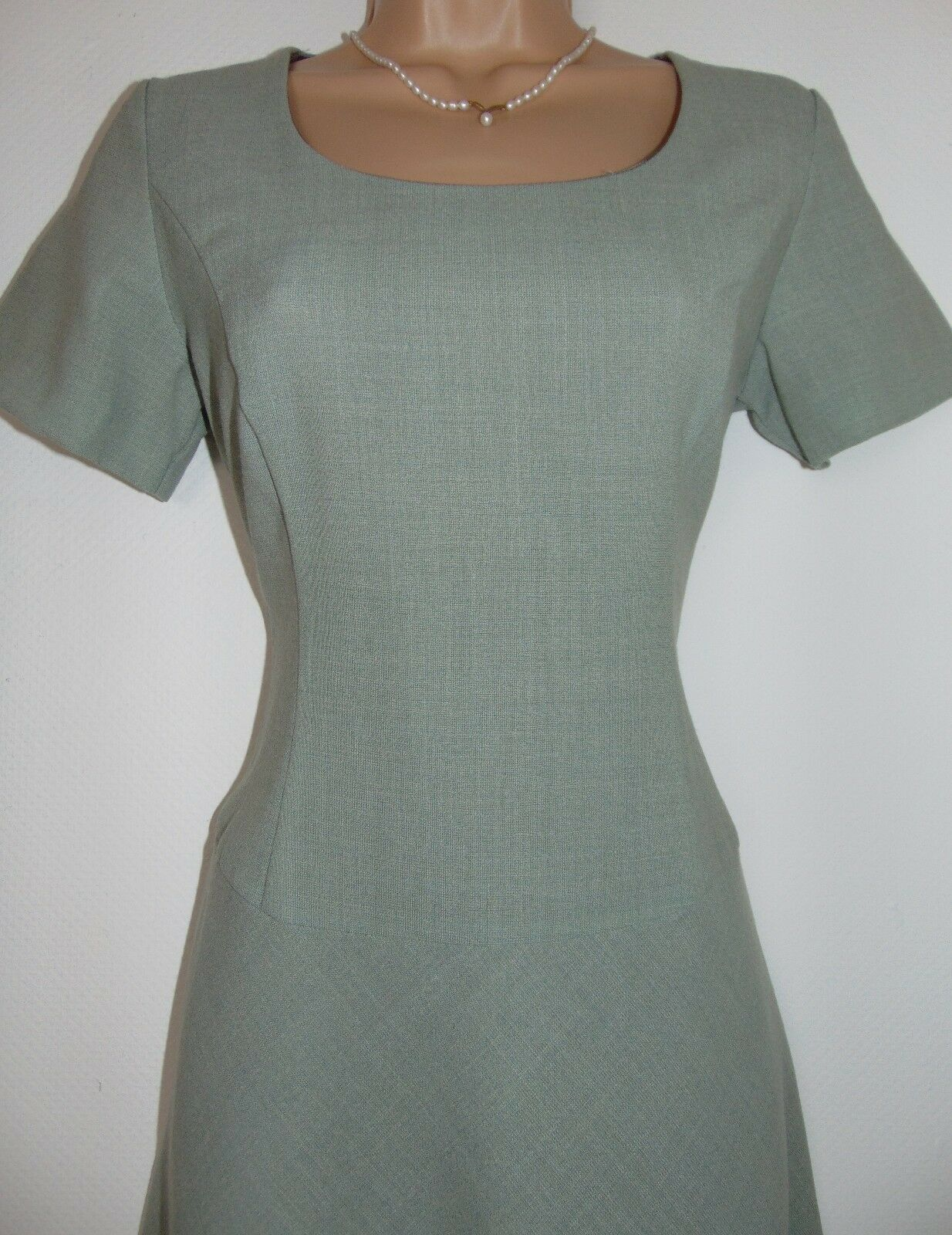 BNWT Laura Ashley Vintage Fine Wool, Smart Formal Office Knee Length Dress 12