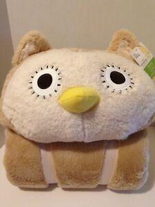 new styles cb93b d27b9 Details about NWT Mainstays kids slumber bag-sleeping bag Plush Owl