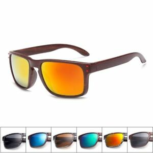 2d4f8d9f34 Image is loading Mens-Wood-Grain-Sunglasses-Men-Vintage-Eyewear-Rivets-