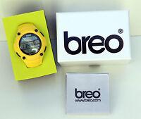 Genuine Breo Zone Watch- Alarm, Chronograph, Backlight- Unisex , Yellow- New