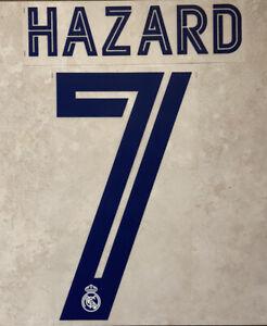 Flocage Nameset Hazard #7 Real Madrid 2020-2021 Domicile Extérieur.